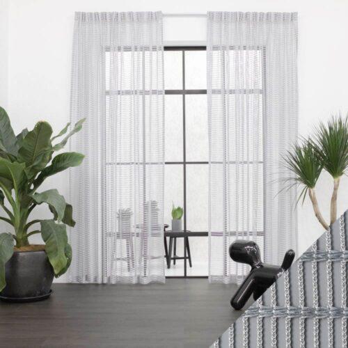 Baagus Curtain Sheer Malaysia Staircase Grey 1 1