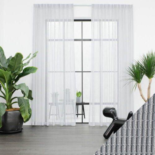 Baagus Curtain Sheer Malaysia Sturdy Net Light Grey 1 1