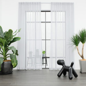 Baagus Curtain Sheer Malaysia Sturdy Net Light Grey 1
