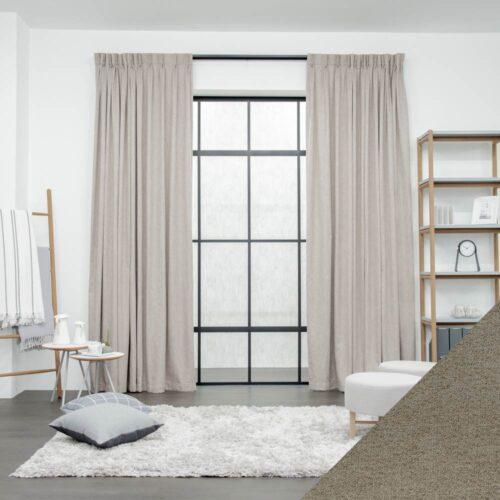 Baagus Curtain Sheer Malaysia Sturdy Soft – Brown 1 01
