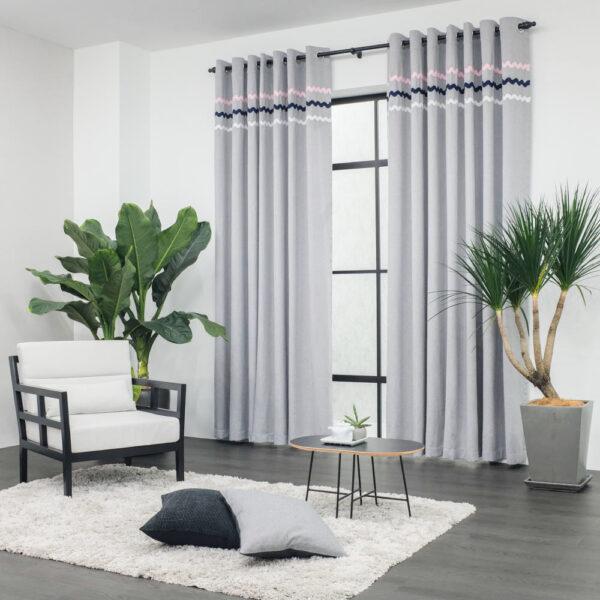 Baagus Curtain Sheer Malaysia Sturdy Soft Grey 2