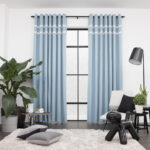 Baagus Curtain Sheer Malaysia Sturdy Soft with Double Fringes Blue 2