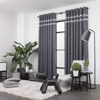 Baagus Curtain Sheer Malaysia Sturdy Soft with Double Fringes Dark Grey 2