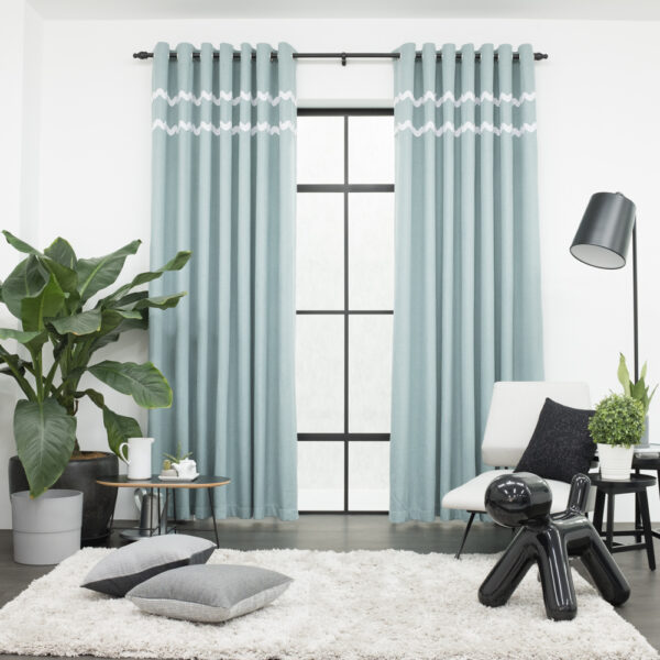 Baagus Curtain Sheer Malaysia Sturdy Soft with Double Fringes Green 1