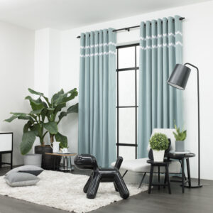 Baagus Curtain Sheer Malaysia Sturdy Soft with Double Fringes Green 2