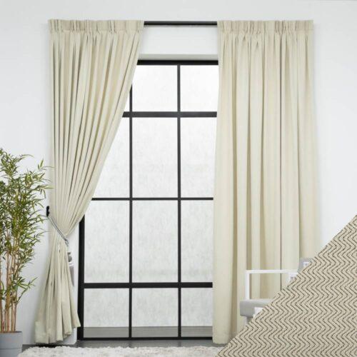 Baagus Curtain Sheer Malaysia Tiffany Beige FP DFN 4B 01