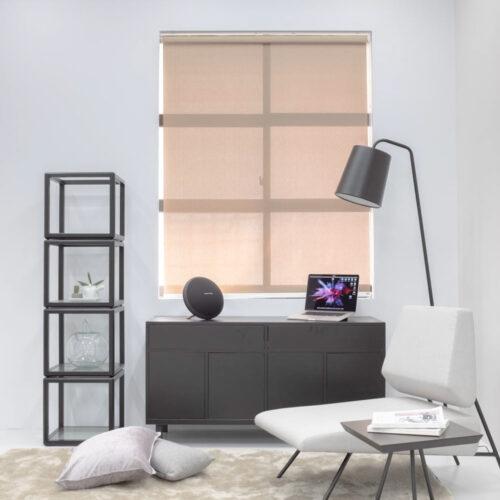 Baagus Curtain Sheer Malaysia Twill Peforated – Brown 1