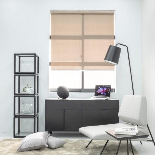 Baagus Curtain Sheer Malaysia Twill Peforated – Brown 2