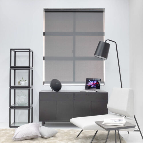 Baagus Curtain Sheer Malaysia Twill Peforated – Grey 1