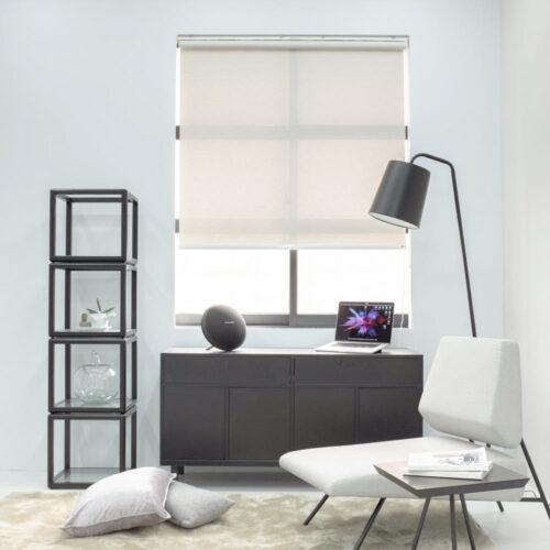Baagus Curtain Sheer Malaysia Twill Peforated – Light Grey 2