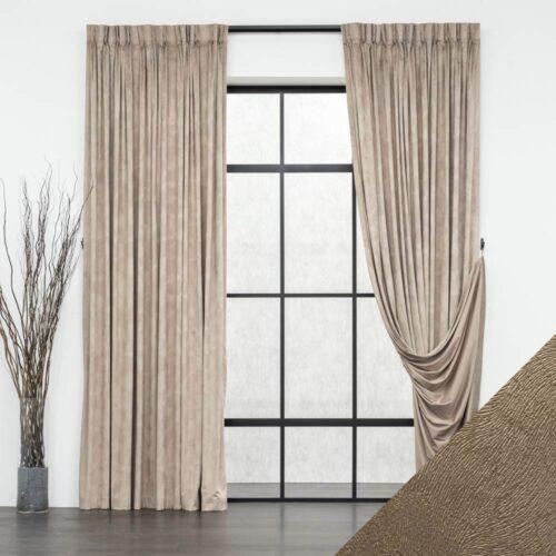 Baagus Curtain Sheer Malaysia Velvety Spur Brown FP JH 15BR DSC 7850 3 01