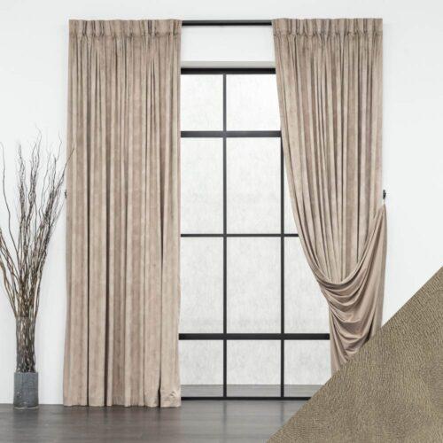 Baagus Curtain Sheer Malaysia Velvety Spur Brown FP JH 15BR DSC 7850 3 1