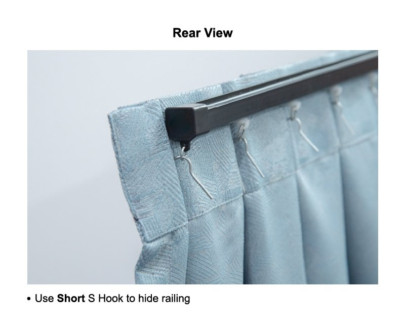 Characteristic of hooks short hook rear view