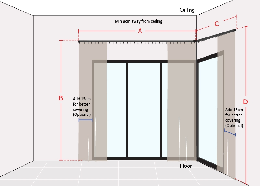 How to Measure L Shape Sliding Door