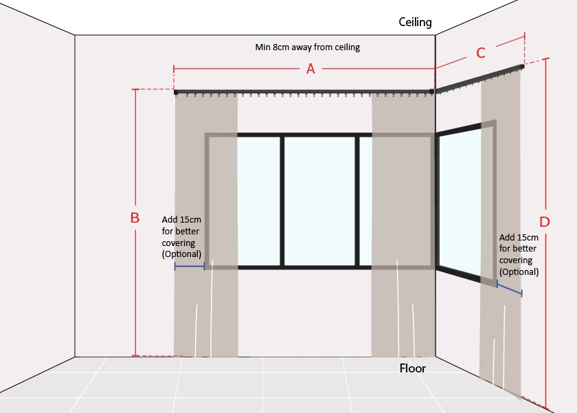 How to Measure L Shape Window Long