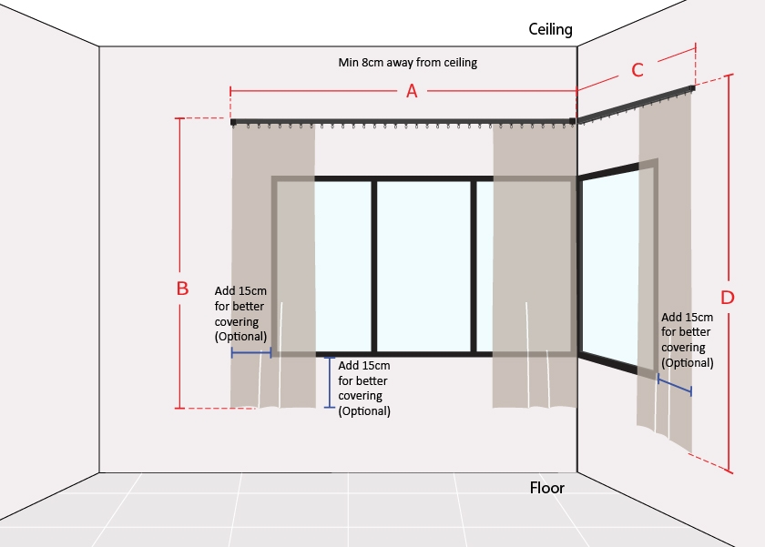 How to Measure L Shape Window Short