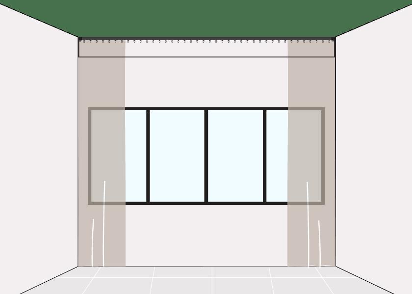 How to Measure Pelmet Window Long