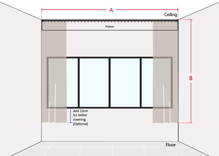 How to Measure Pelmet Window Short