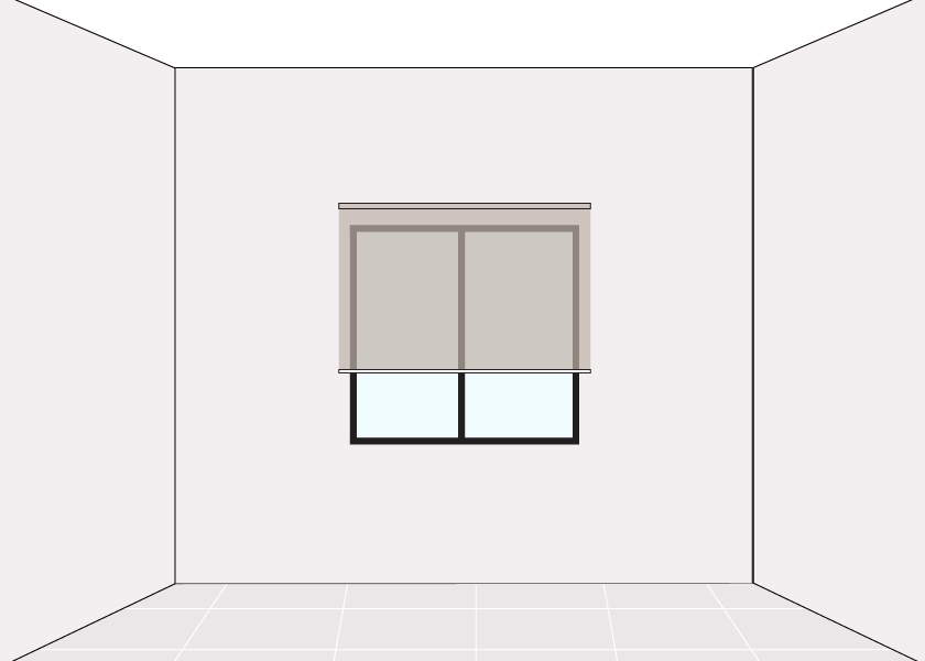 How to measure Blind Wall Mounted