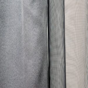 Set Metallic Embossed Grey Mini Square Black 3