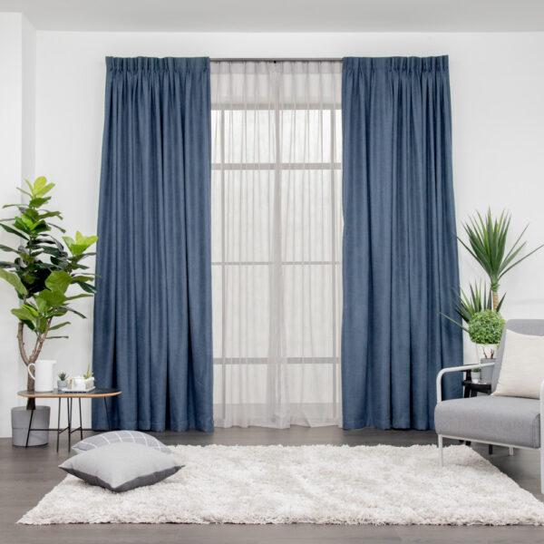 Set Soft Yarn Blue Mini Square Grey 1