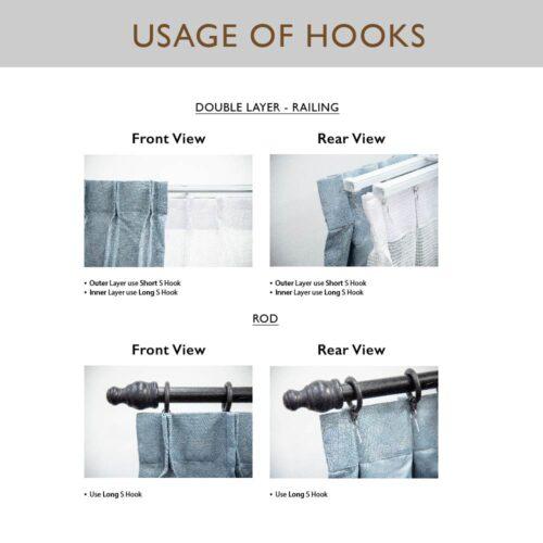 Single Long Hook AC 0018 4