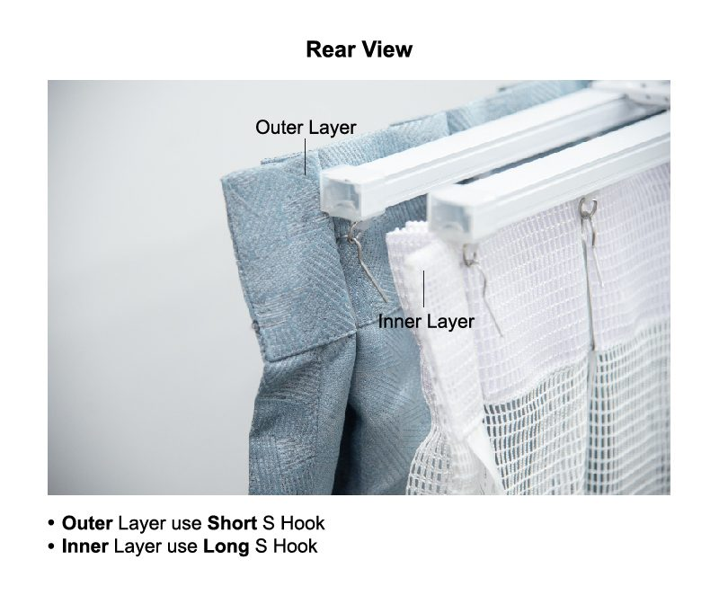 usage of hooks double layer raling rear view