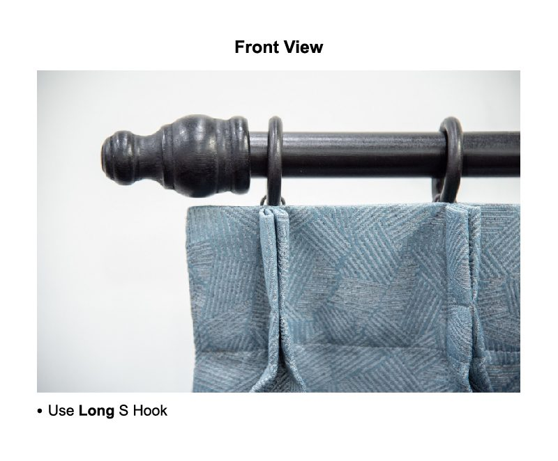 usage of hooks rod front view